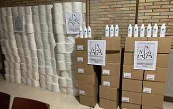 Donación APA material pandemia